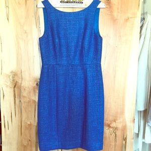 Royal blue J. Crew Cameron dress
